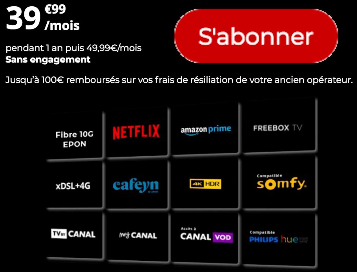 Freebox Delta sans engagement avec Netflix et Prime Video