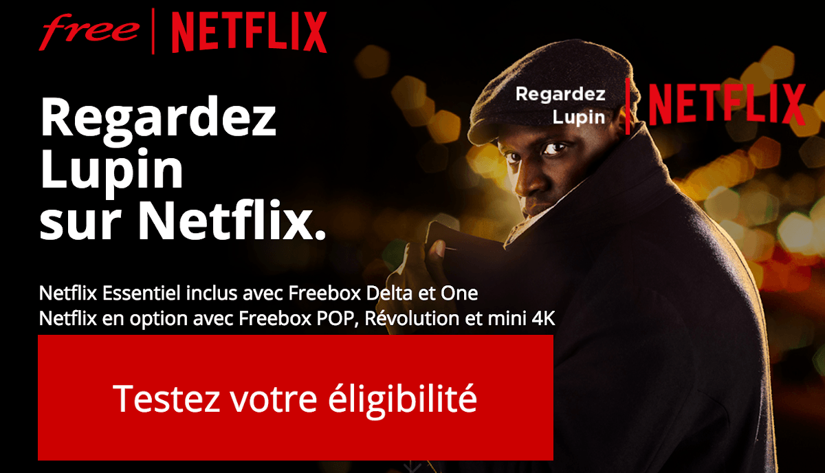 Netflix gratuit sur toutes les Freebox