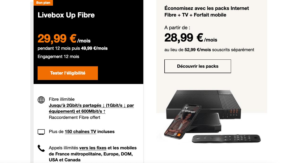 Livebox fibre internet pour la famille