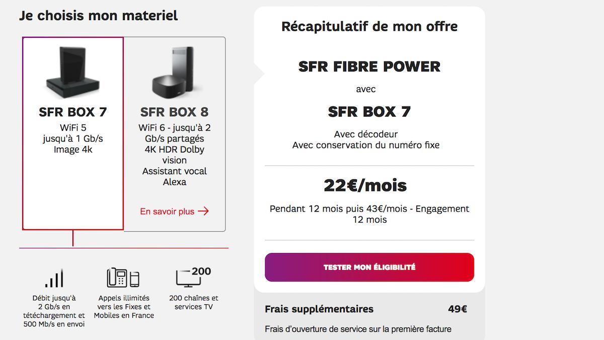 SFR fibre power 7