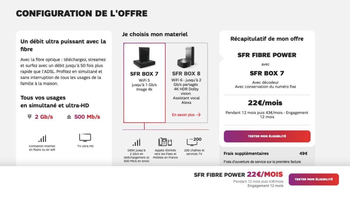 box internet SFR