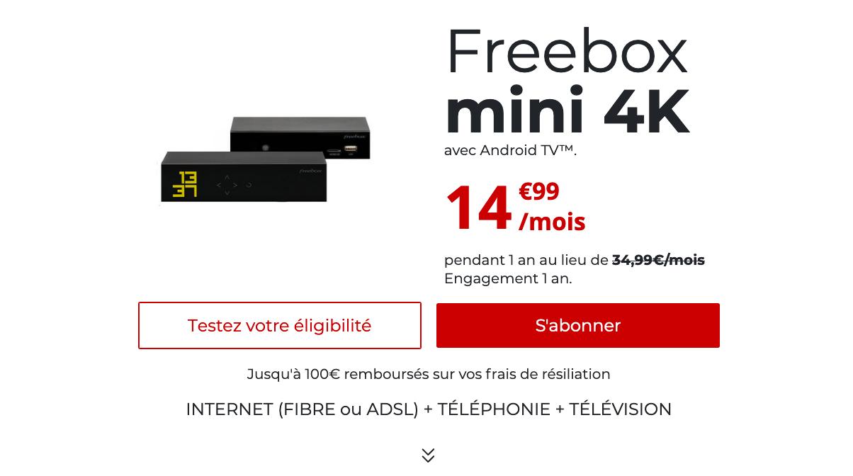 box internet pas chere free