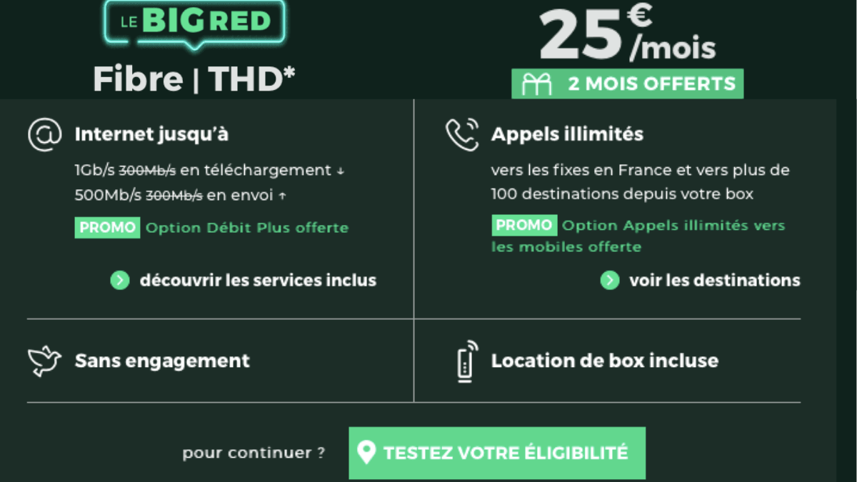 box internet sans engagement red by sfr