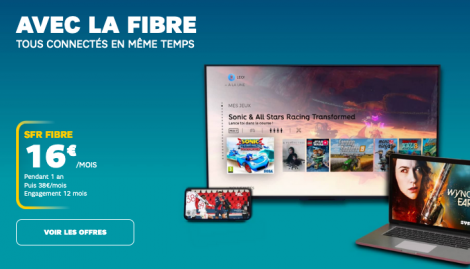 SFR promo box fibre optique.
