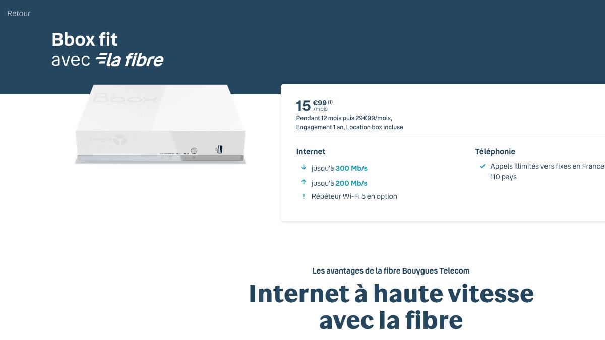 La Bbox Fit de Bouygues Télécom