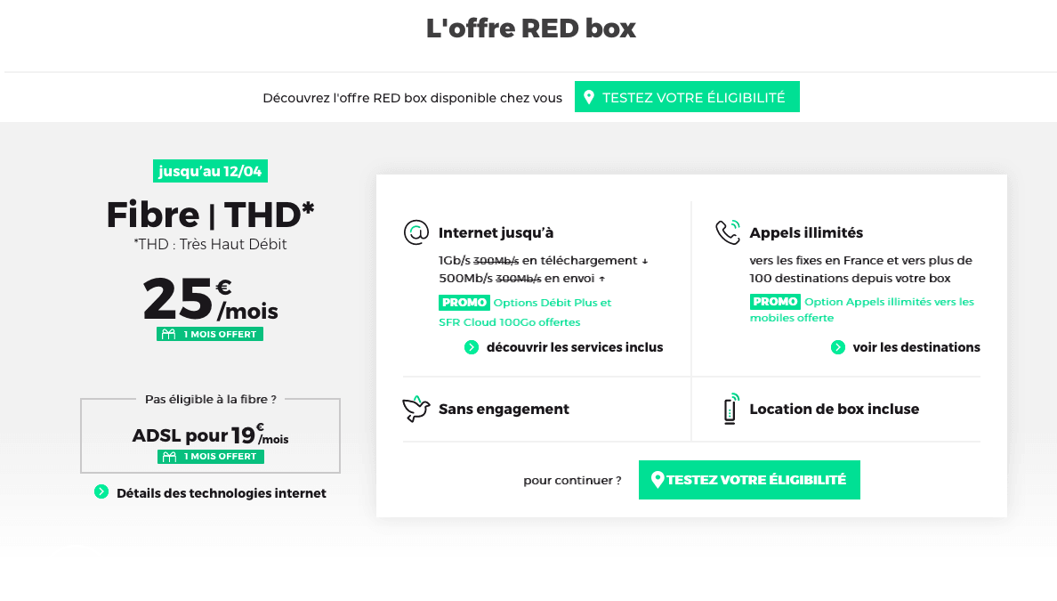 Red box ADSL SFR
