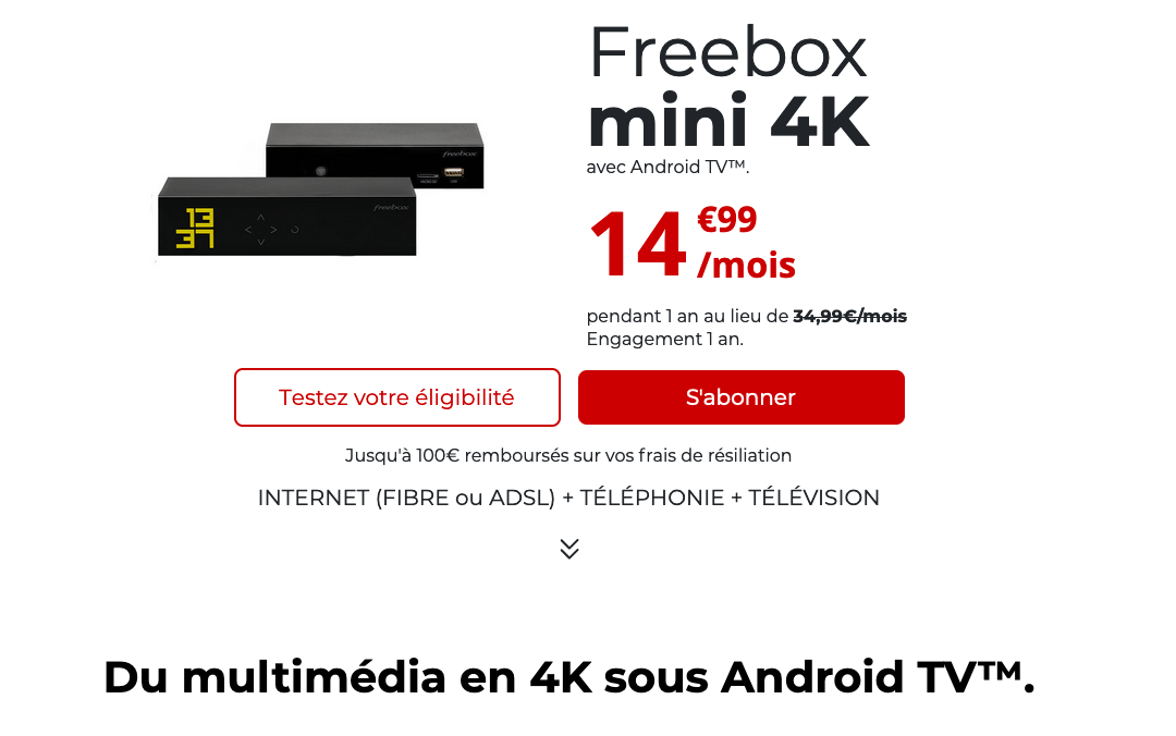 box fibre pas chere free