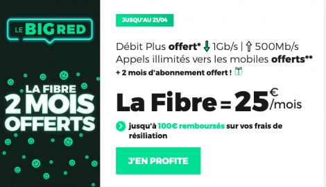 Promo big RED fibre optique.