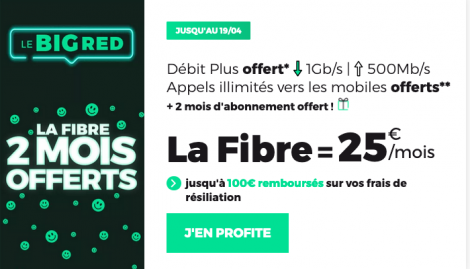 Promo RED by SFR fibre optique.