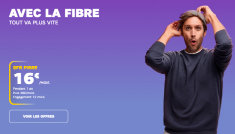 Promo box internet fibre optique SFR.