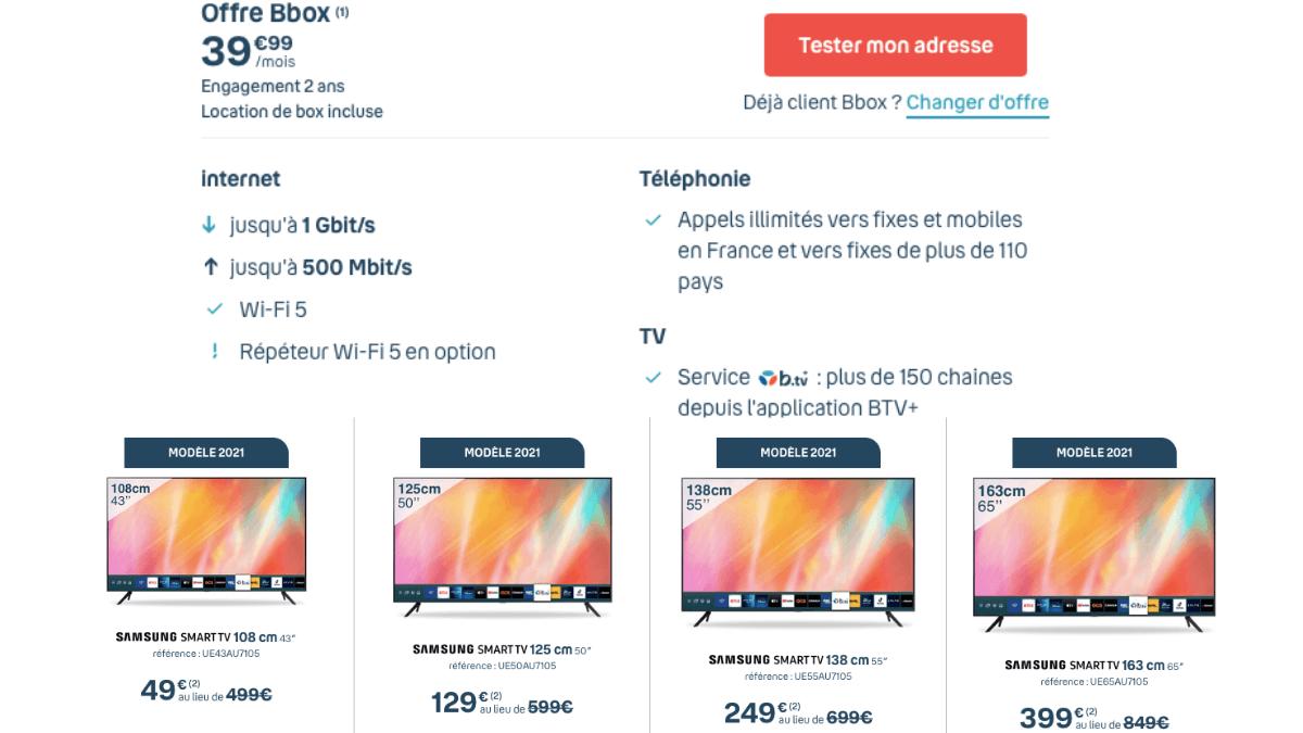 tv samsung bouyges telecom