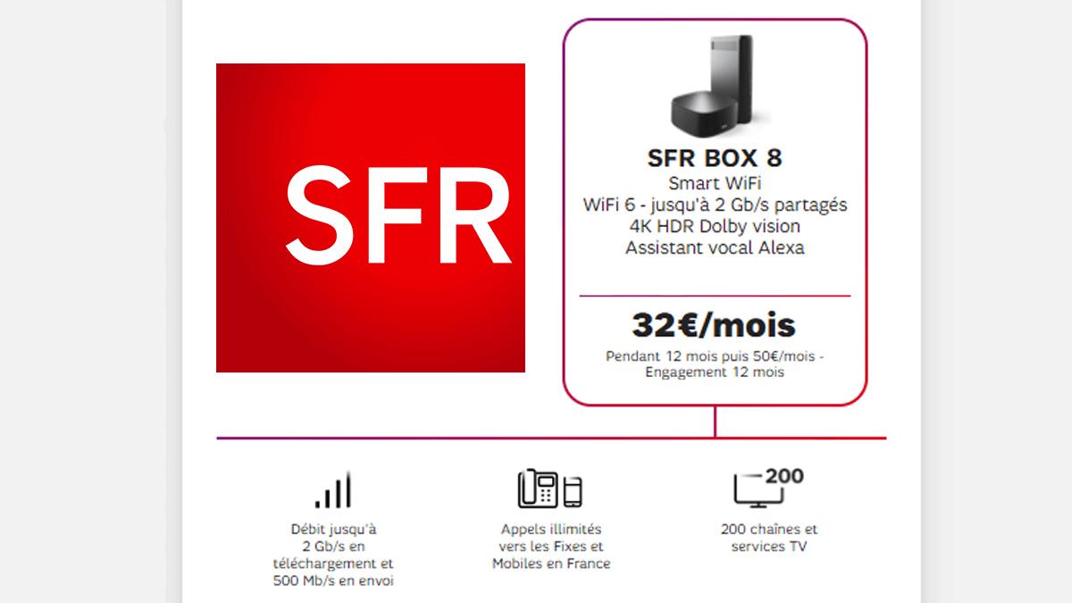 SFR Box 8 en promo 1 an