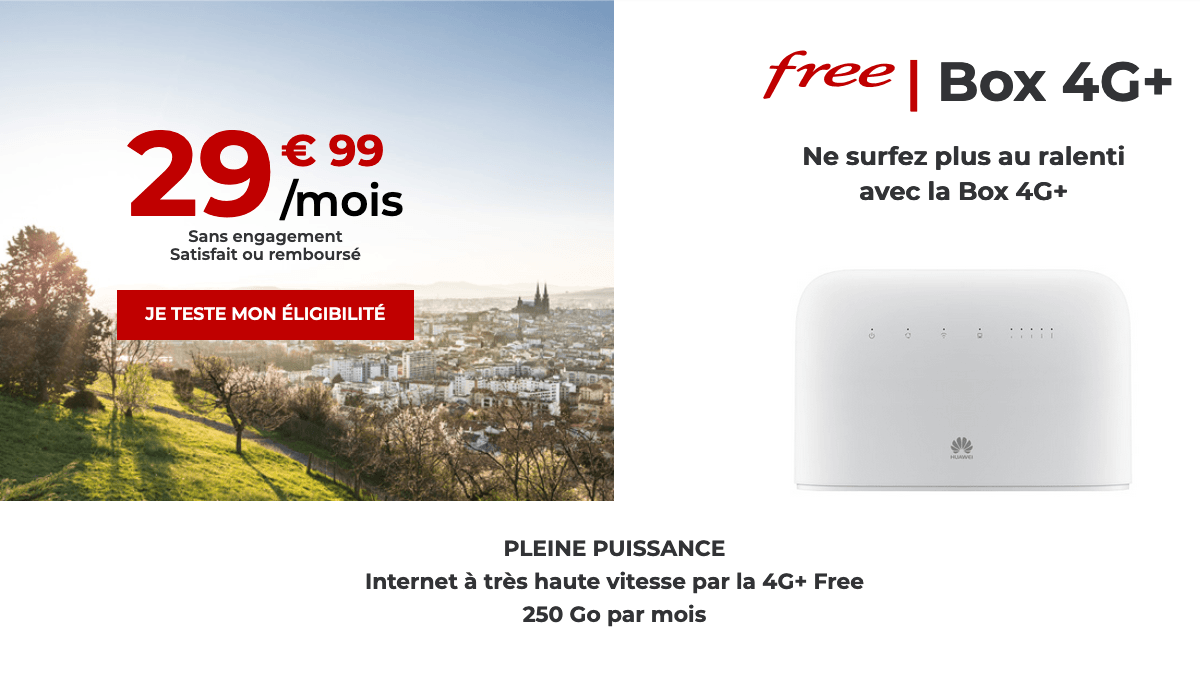 Box 4G de Free
