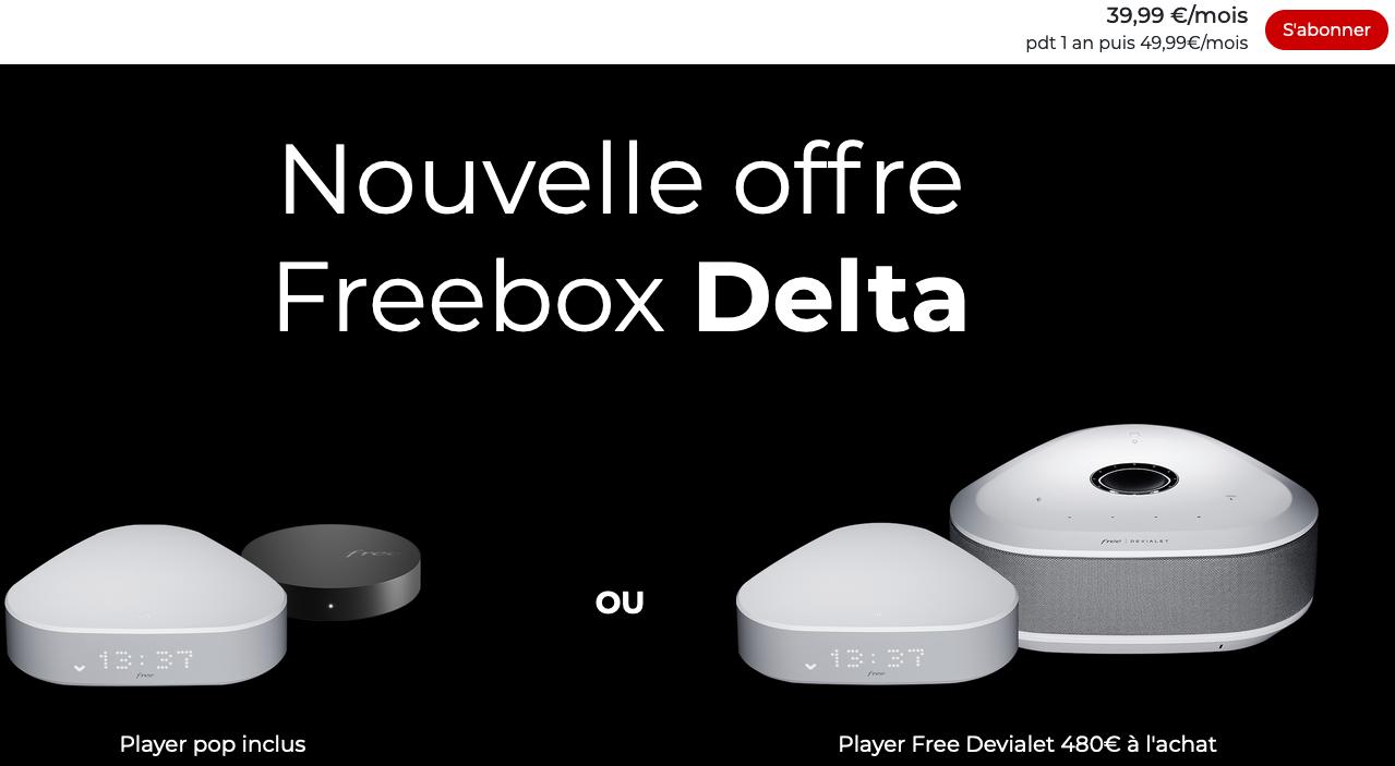 Netflix freebox delta