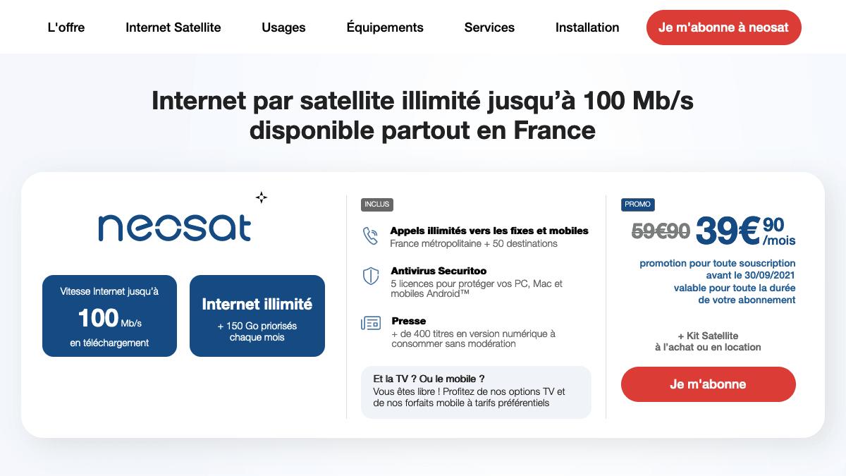 L'offre internet par satellite de Nordnet