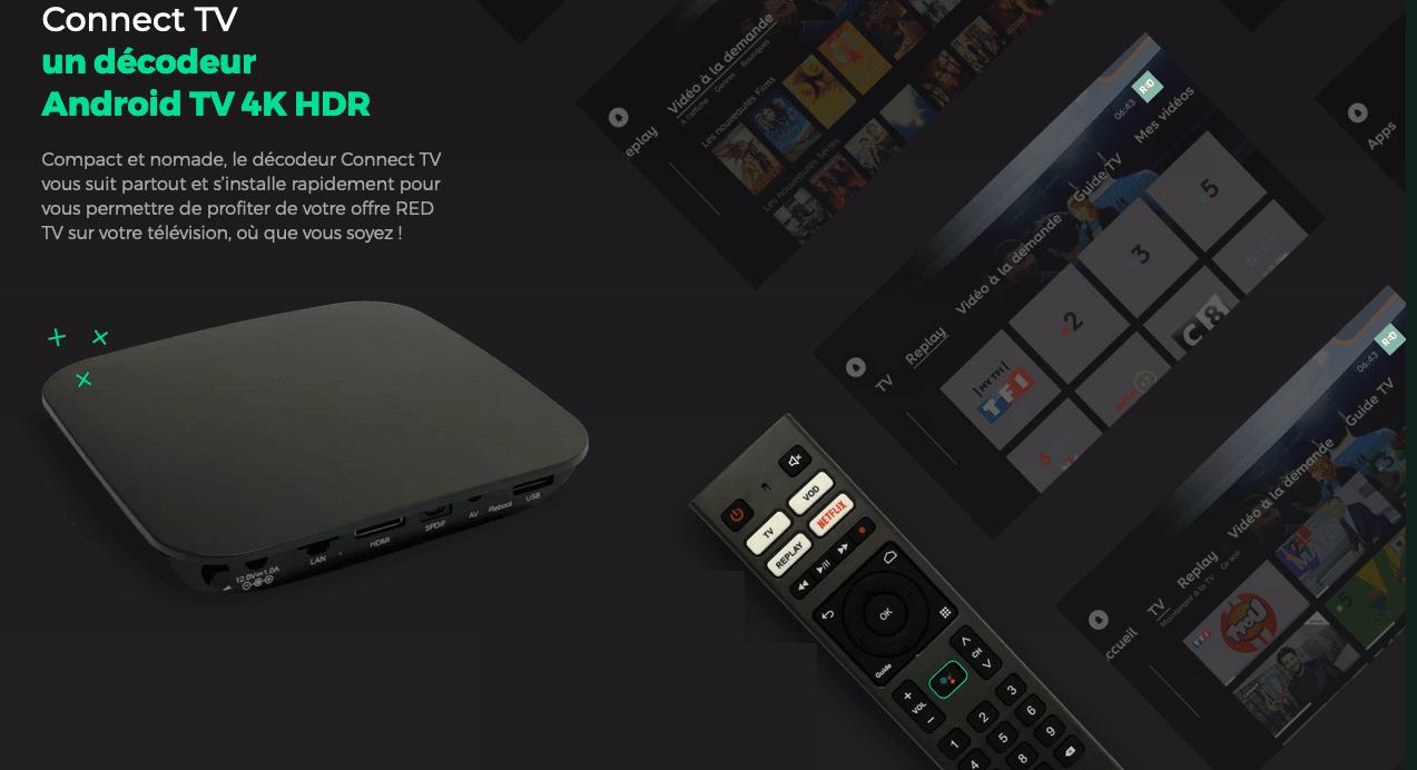 box de red decodeur connect TV
