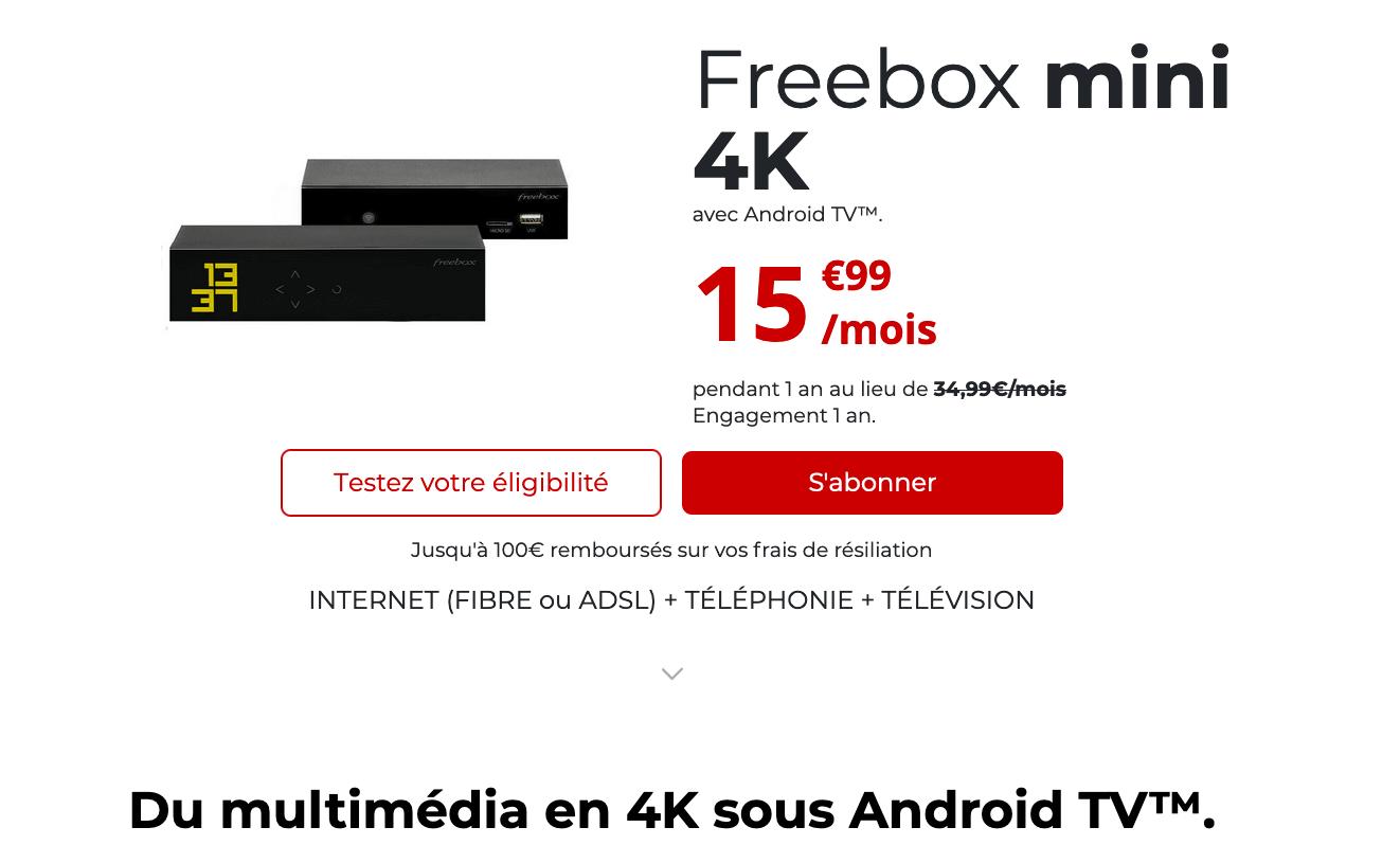 La fibre optique de Free à partir de 15,99€