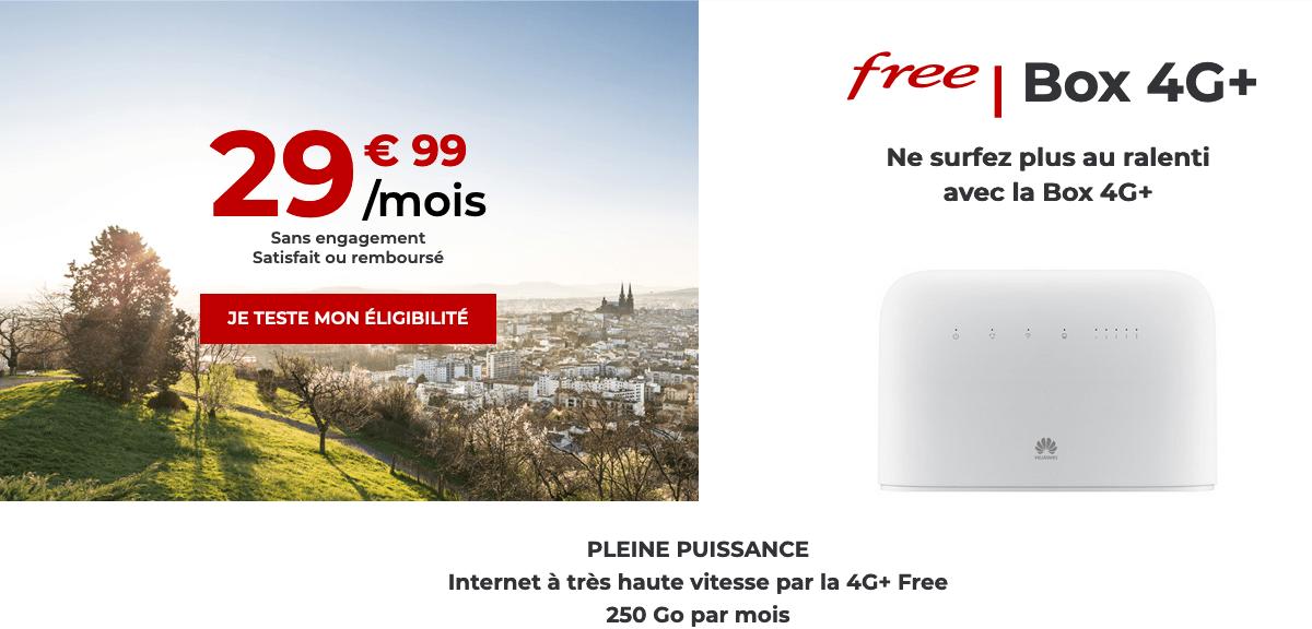 forfaits box 4G free operateur