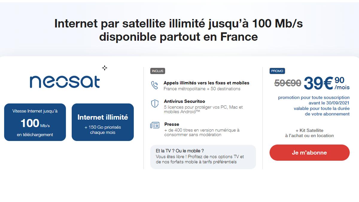 Promo box internet par satellite