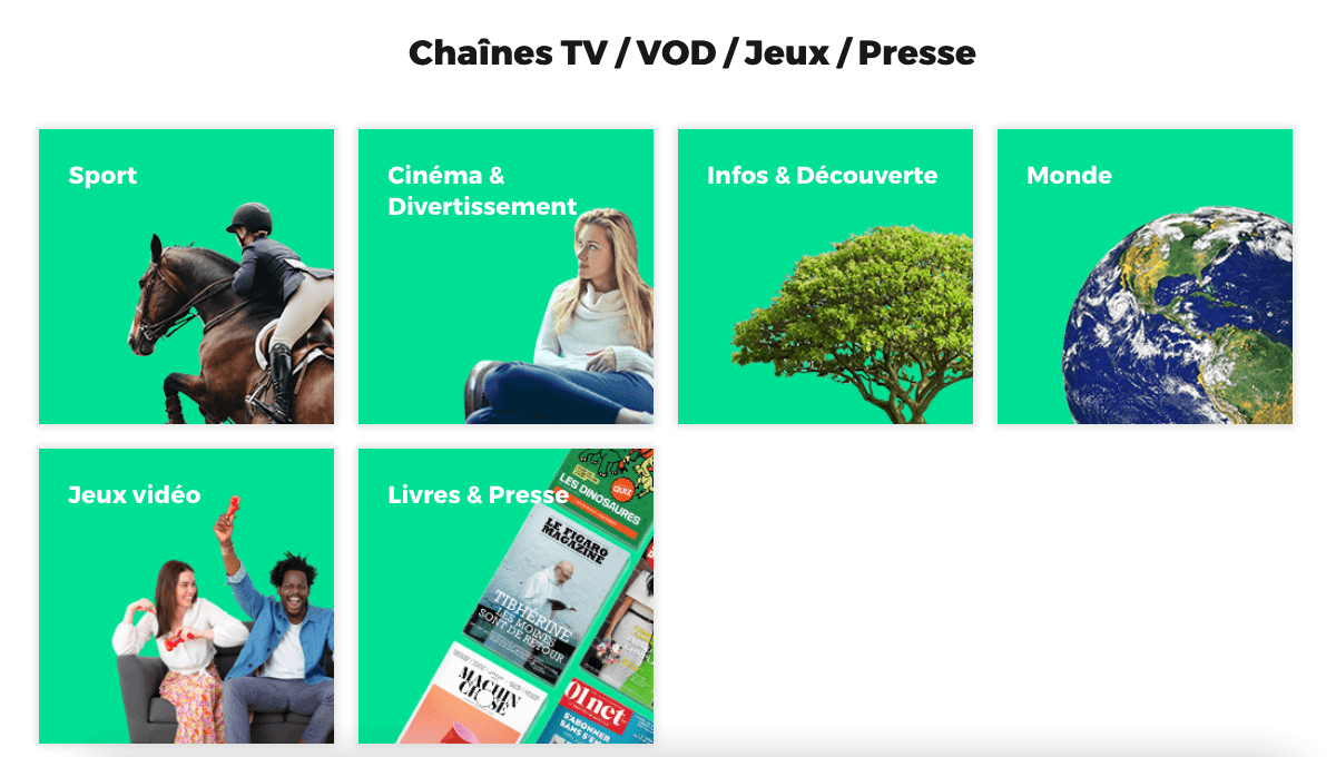 Les options TV RED