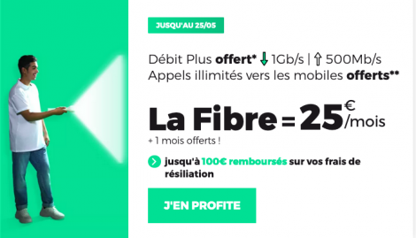 Promotion fibre optique RED by SFR.