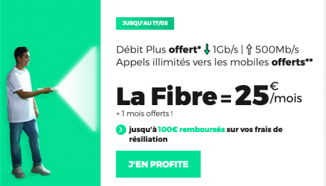 Fibre optique en promotion chez RED by SFR.