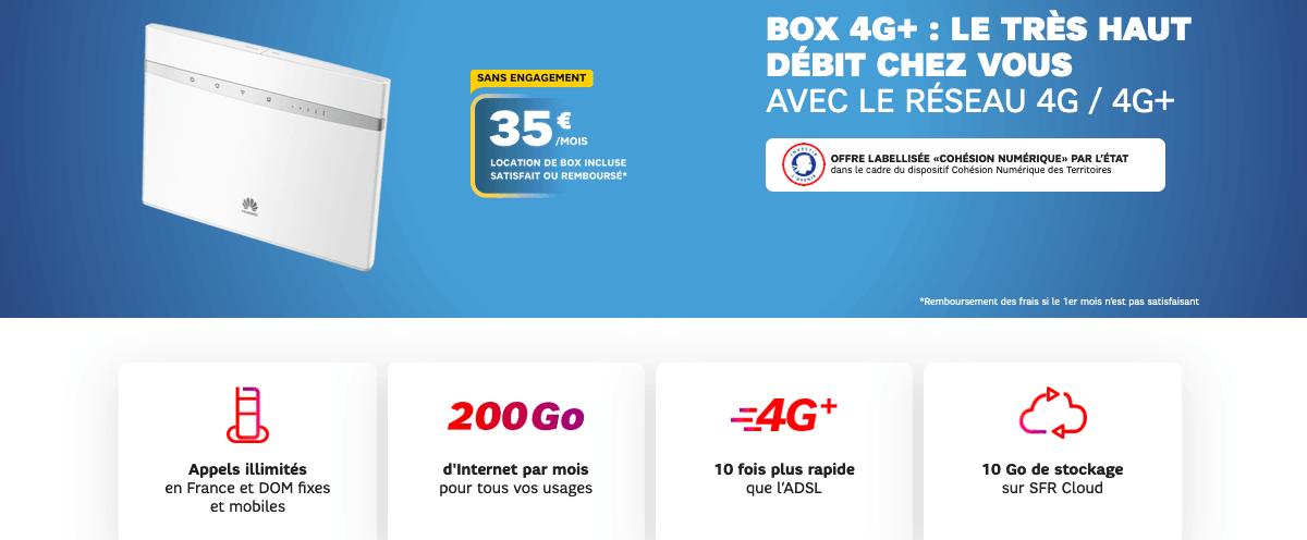 sfr forfaits box 4G opérateur