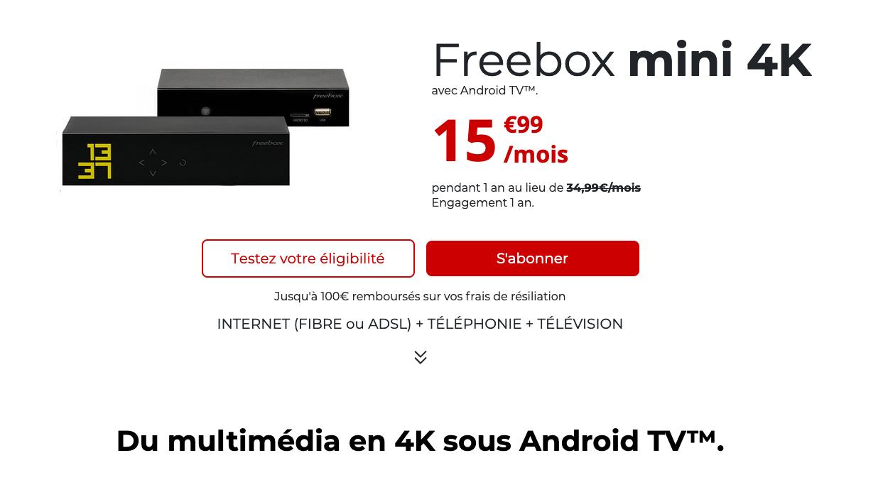 Offre ADSL du moment Free