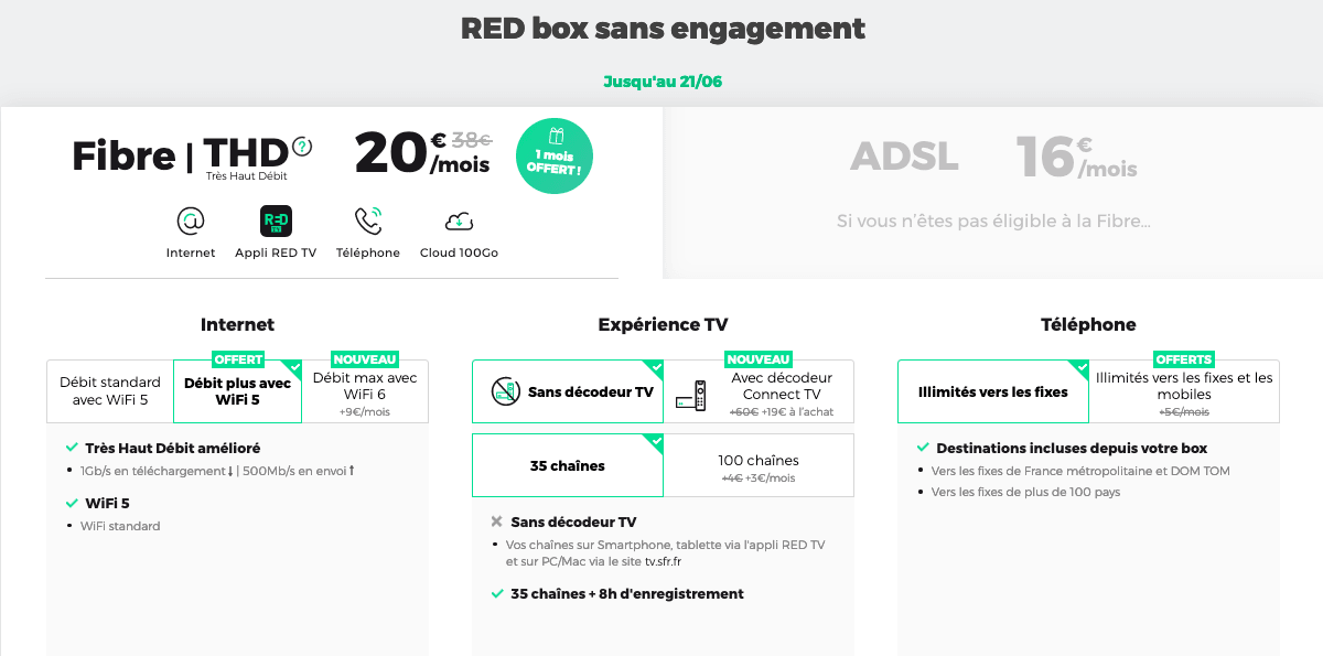 RED by SFR box sans engagement