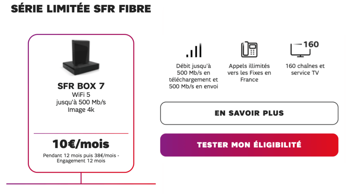 Bon plan SFR dix euros