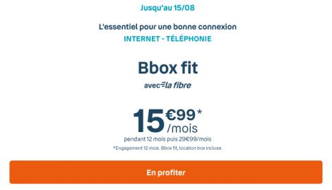 Promo fibre Bbox Fit.