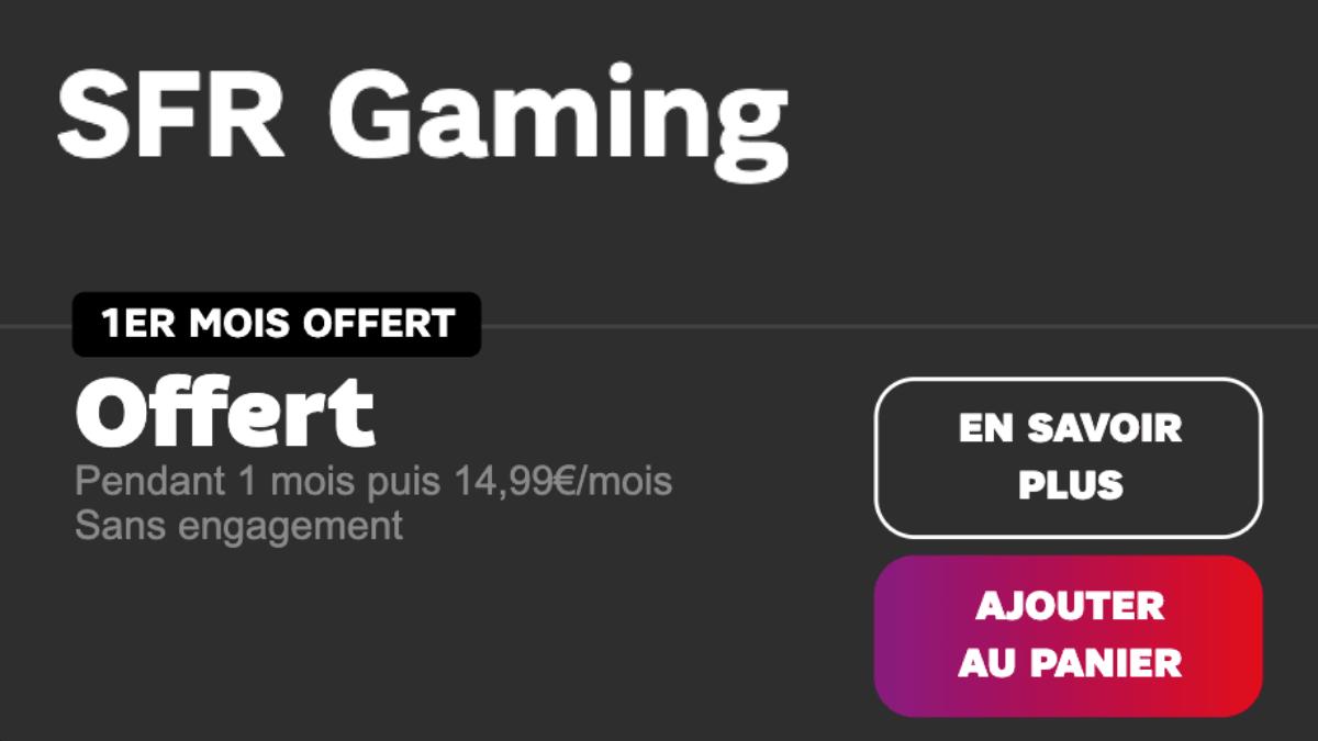SFR gaming un mois offert