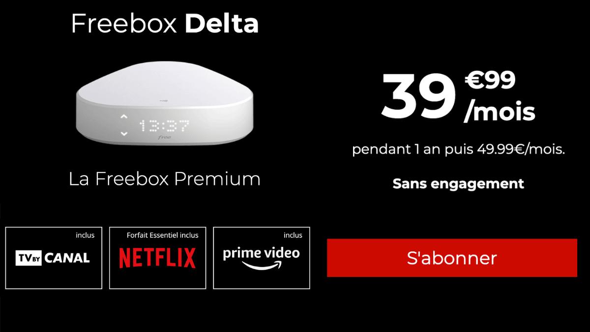 Box avec Netflix Free Delta