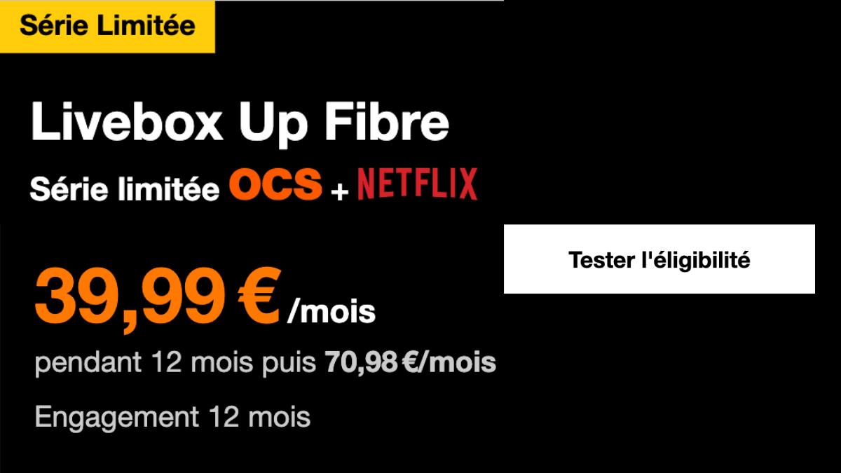 Box avec Netflix Orange Livebox