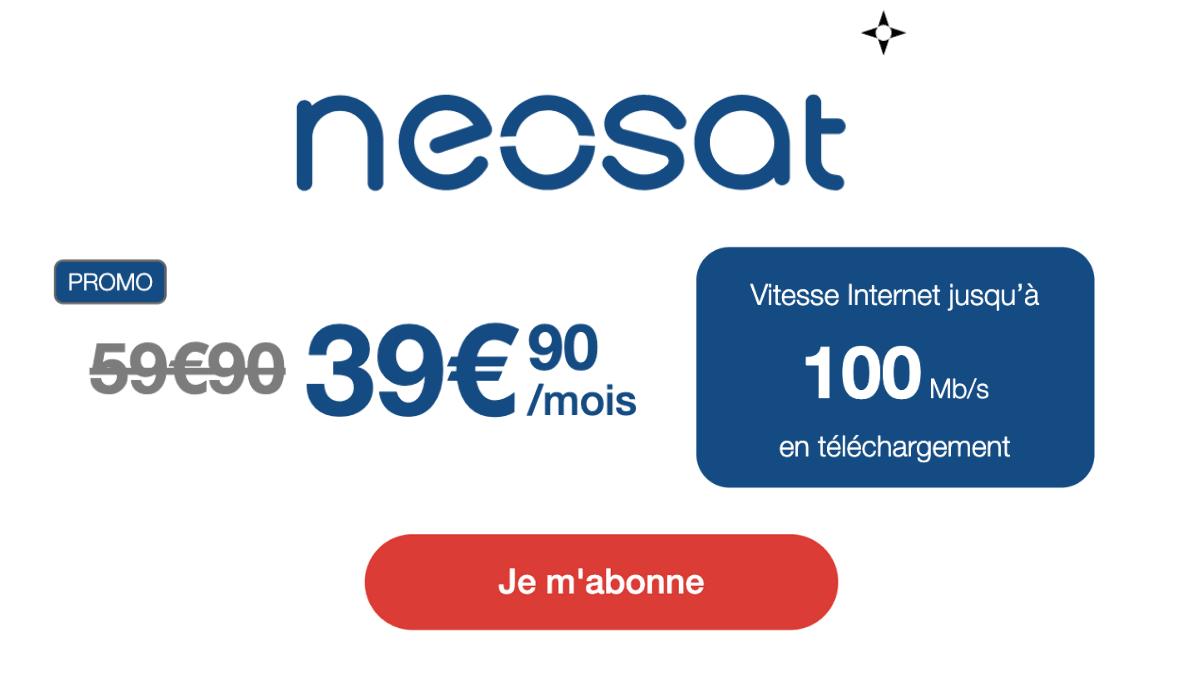 Box satellite débit 100 Mb Neosat