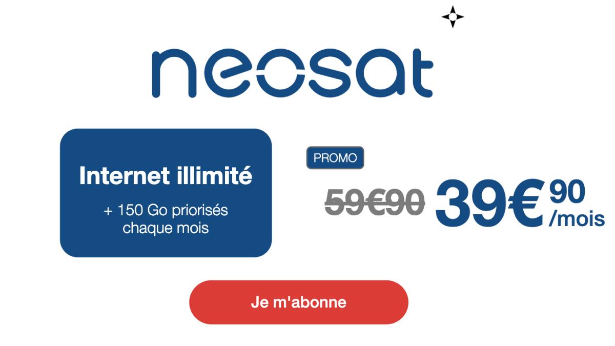 Box satellite internet illimité Neosat