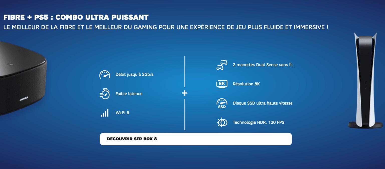 Box fibre de SFR + PS5 en stock