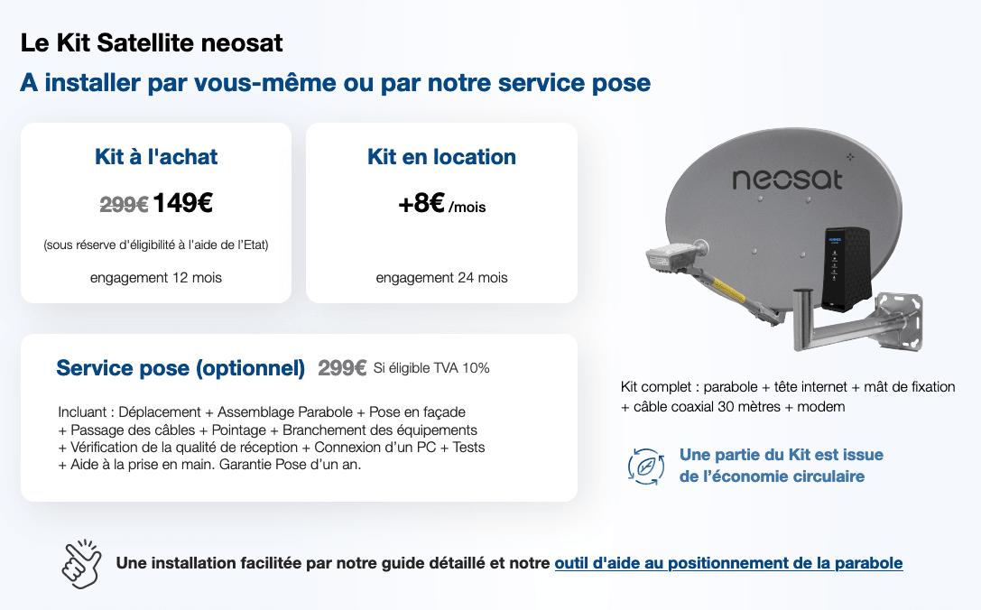 Le kit internet par satellite Neosat