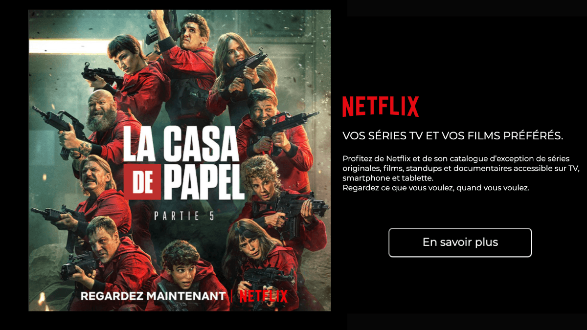 Netflix inclus dans la Freebox Delta