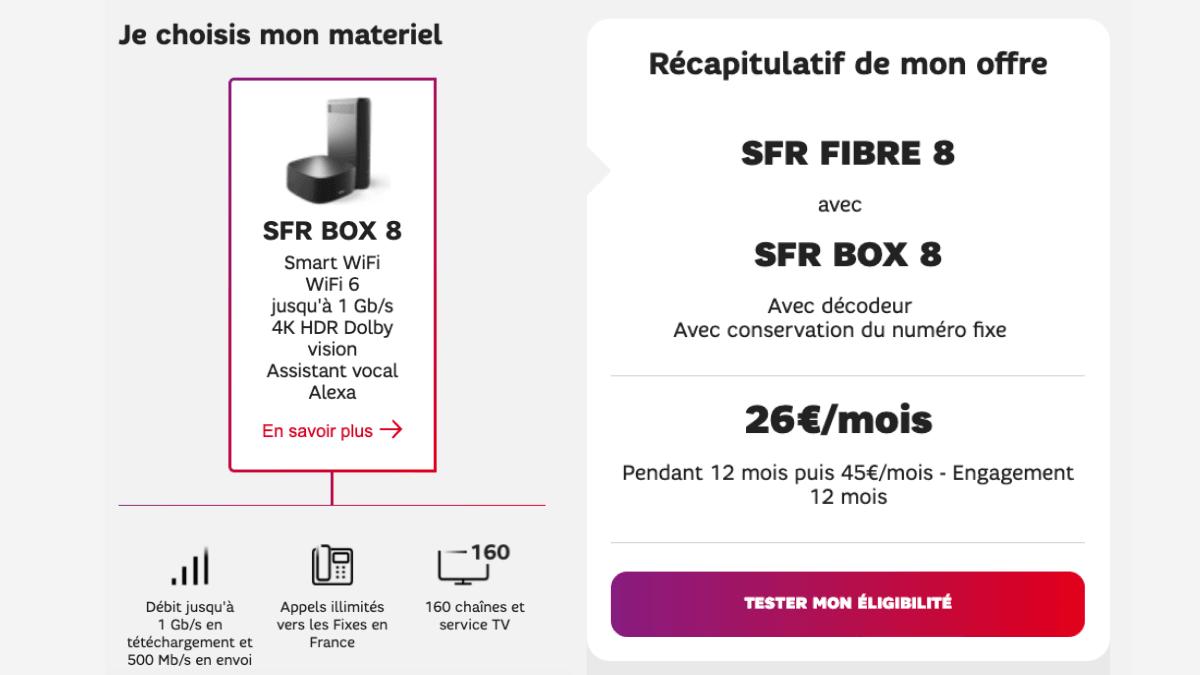 La SFR Box 8 est en promotion