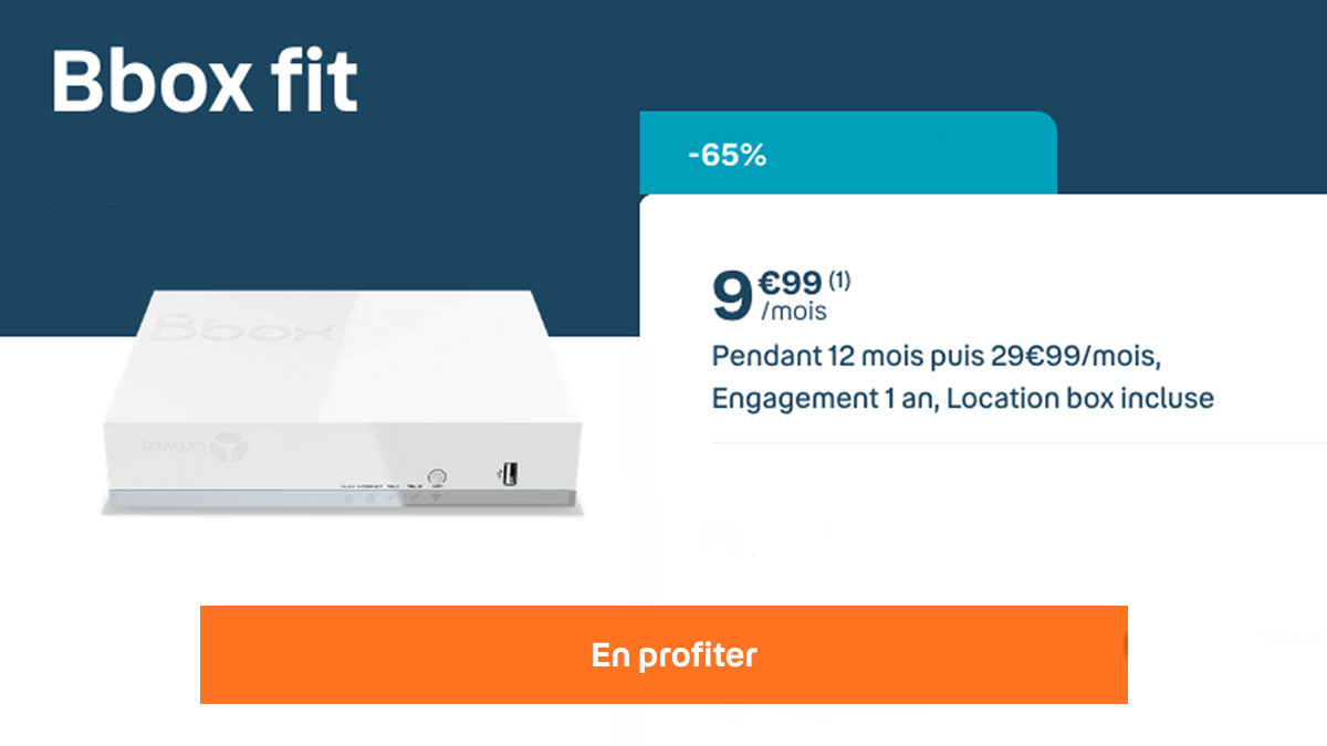 La box fibre optique à 9,99€ par mois