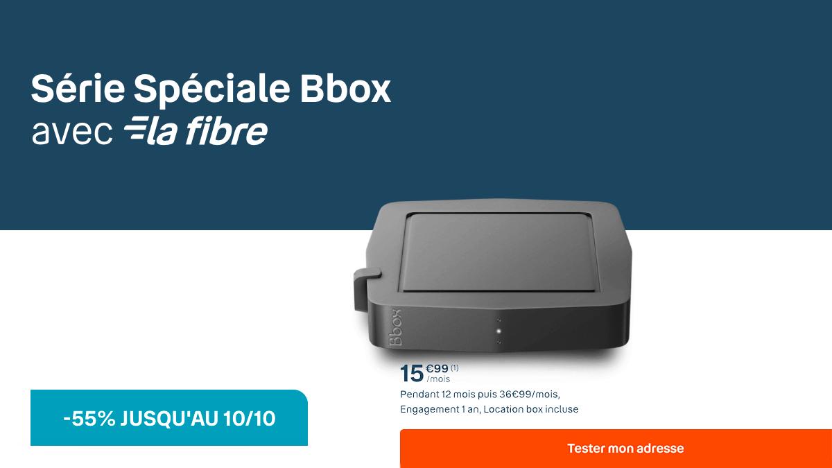 La box fibre optique de Bouygues Telecom en promo