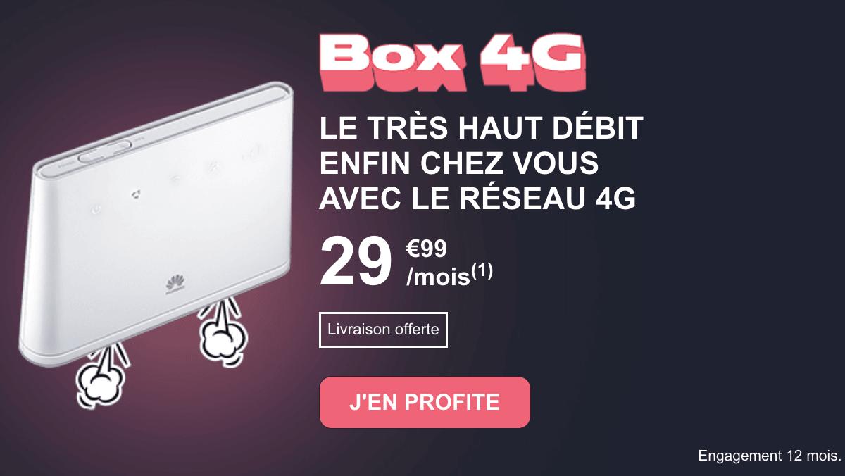 La box internet 4G NRJ Mobile, une offre à prix compétitif