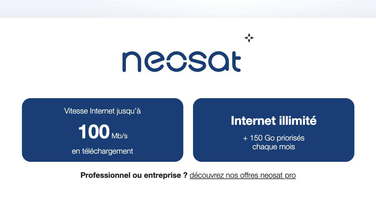 La vitesse de la connexion par satellite Neosat par nordnet