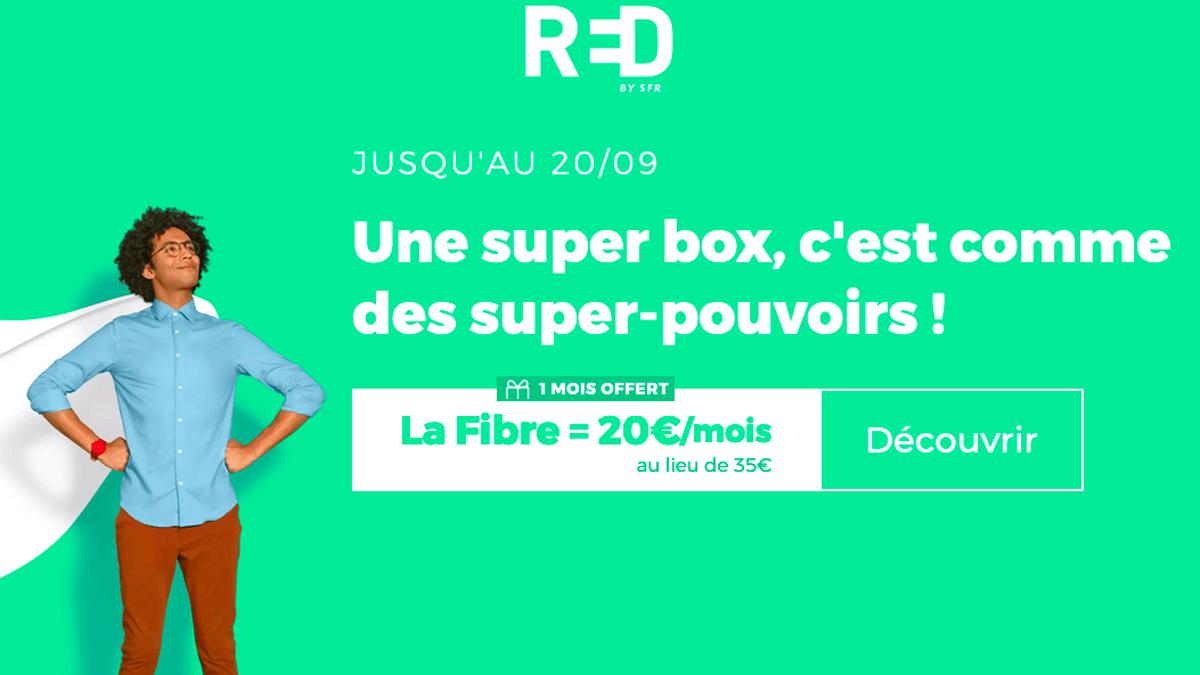 La box fibre optique RED, 20€ par mois