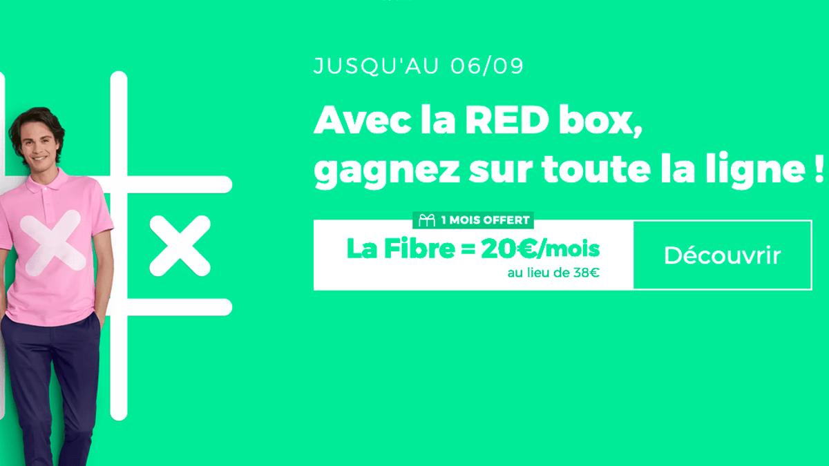 La box fibre optique de RED