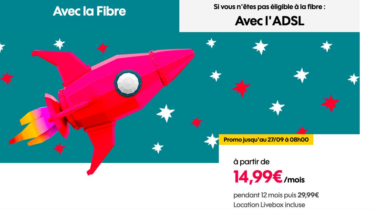 La box fibre optique de Sosh à 14,99€