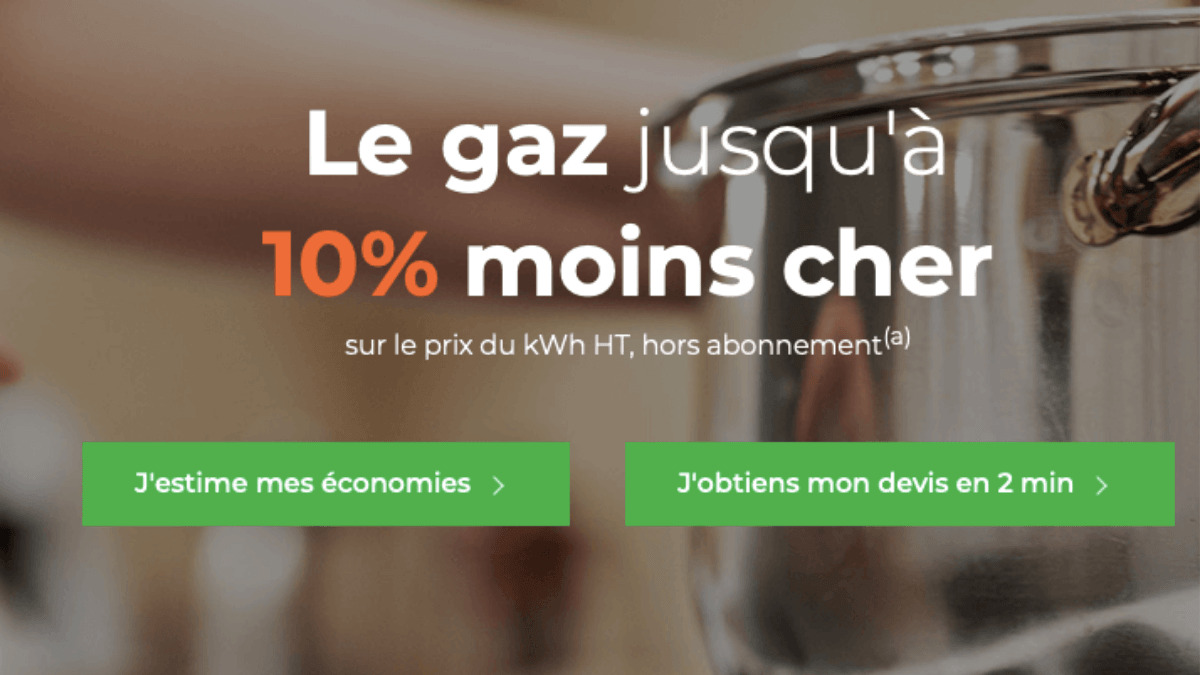 Cdiscount Energy propose du gaz
