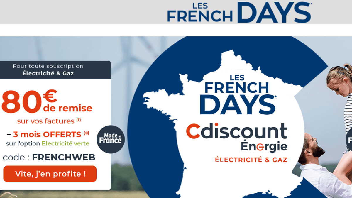 French Days Cdiscount Energie