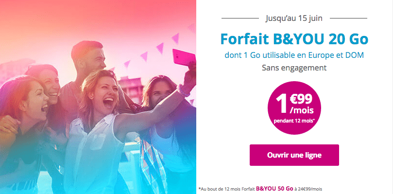Forfait B&YOU 1,99€